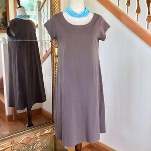 Eileen Fisher | Organic Cotton Tunic T Shirt Dress
